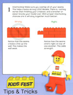 Lego kidsfest tips tricks all about the bricks for Construction tips and tricks