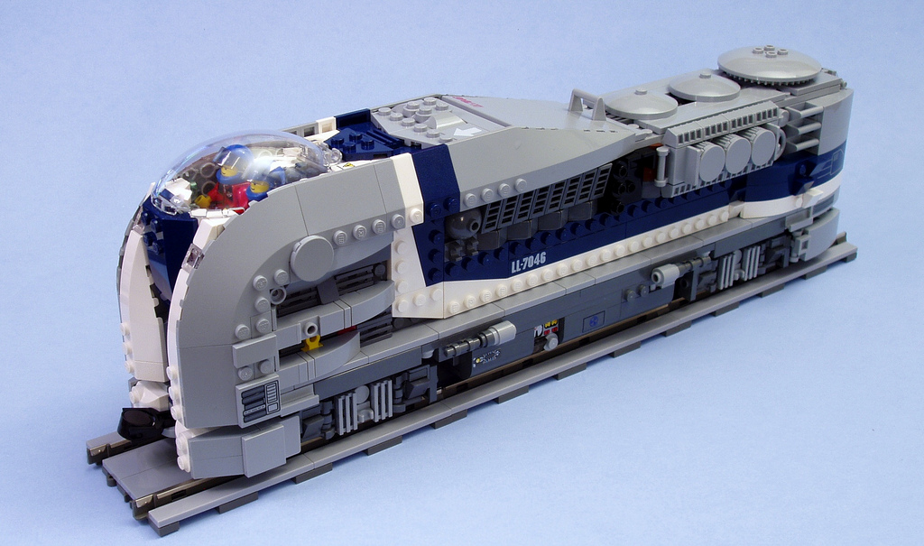 futuristic LEGO train