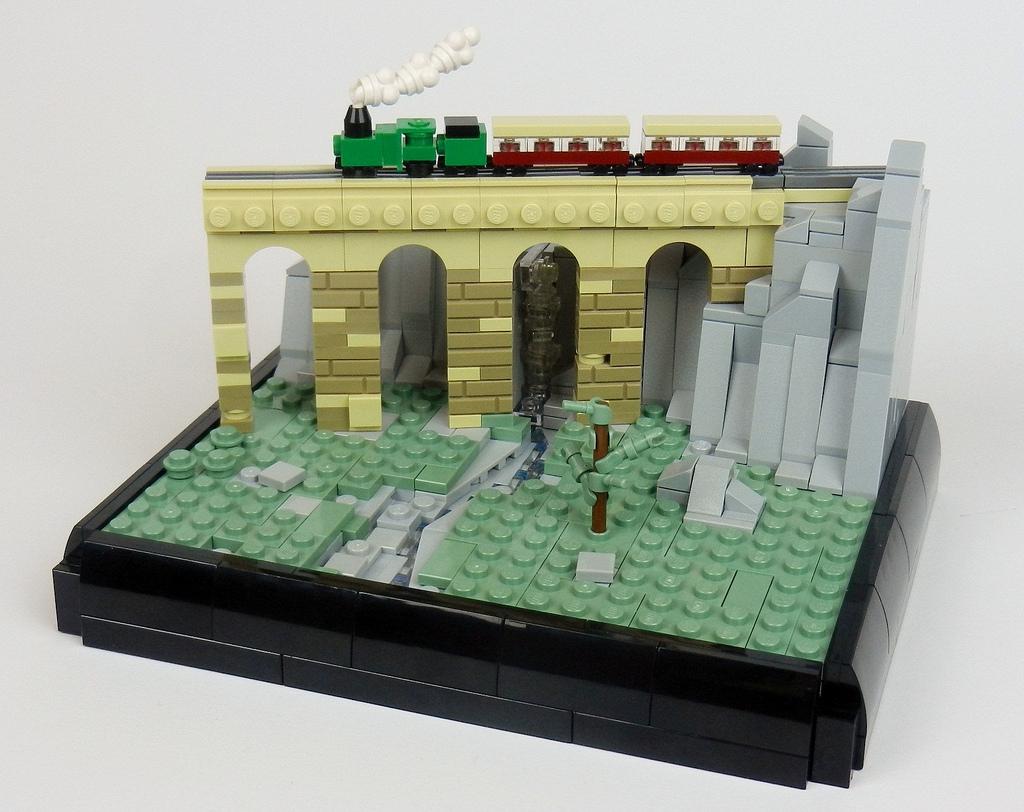 micro scale LEGO train