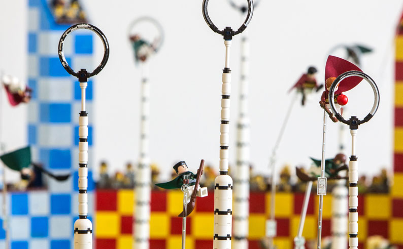 Wow.  This is an incredible LEGO Harry Potter Quidditch display