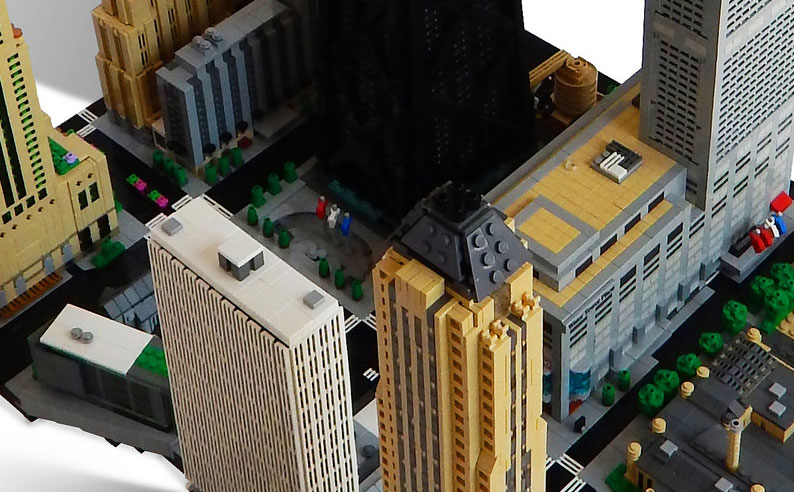 This micro scale LEGO Chicago is magnificent