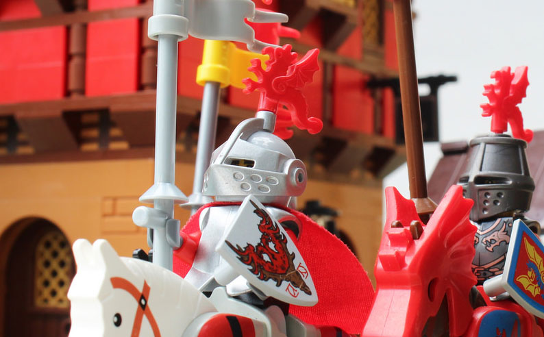 Beautiful medieval LEGO scene
