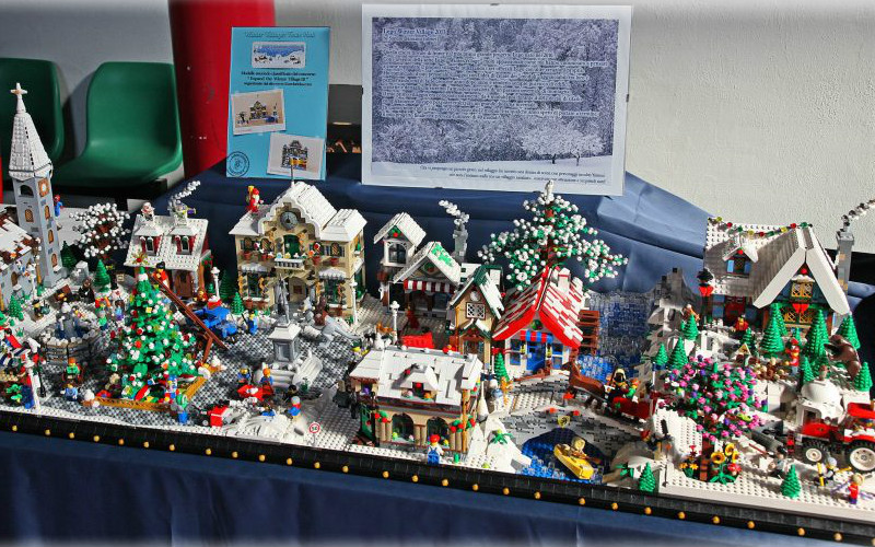 Large LEGO Winter Village display