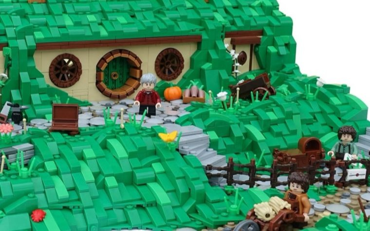 This LEGO Bag End is warm and welcoming.