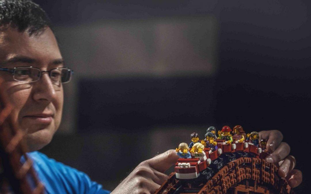 Impressive LEGO Roller Coaster